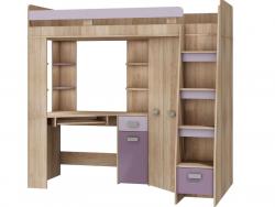 MORAVIA FLAT Multifunkční postel ANTRESOLA pravá, barva: