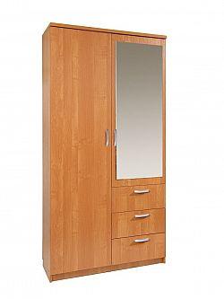 MORAVIA FLAT Šatní skříň PARIS 100/60 se zrcadlem, barva: