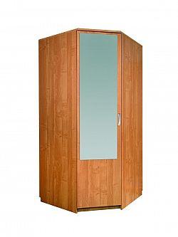MORAVIA FLAT Šatní skříň rohová se zrcadlem, barva: