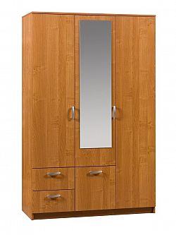 MORAVIA FLAT Šatní skříň VENEZIA 2 se zrcadlem, barva: