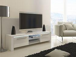 MORAVIA FLAT TV stolek HELIX, bílá/bílý lesk
