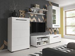 Obývací stěna BRITTA včetně LED, bílá