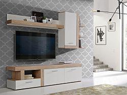 Obývací stěna JULEDA JULM01R, dub sonoma/bílý mat