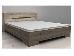 ORFA MIX BOX postel 160 x 200 cm se šuplíkem, dub sonoma tmavý
