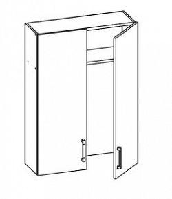 PLATE PLUS horní skříňka GC80/95, korpus congo, dvířka světle šedá