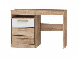 Psací stůl 3S MAXIM 03, dub sonoma/bílý lesk