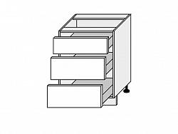 QUANTUM, skříňka dolní D3H 60, vanilla mat/bílá