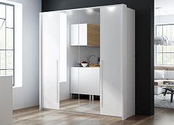 Šatní skříň BREMA 210 bílá/bílá