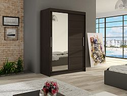 Šatní skříň MIAMII VI, choco/zrcadlo