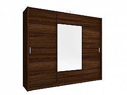 Skříň WIKI se zrcadlem 250 cm, dub sonoma čokoládový