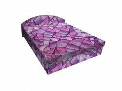 Smartshop Čalouněná postel ÁJA 120x200 cm, fialová látka