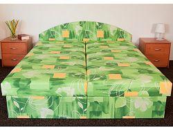 Smartshop Čalouněná postel ÁJA 120x200 cm, zelená látka