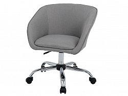 Smartshop Designové kancelářské křeslo LENER s výškov nastavitelným otočným sedadlem, šedohnědá látka/chromova