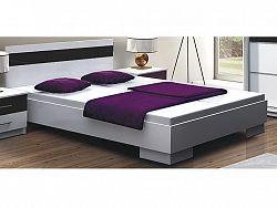Smartshop DUBAJ, postel 160x200 cm, bílá/černé sklo
