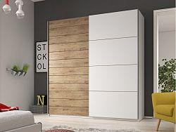 Smartshop GALAXY skříň 220 TYP 18, dub beaufort/bílá