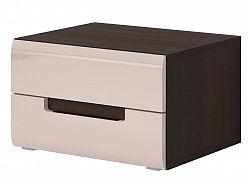 Smartshop HEKTOR noční stolek TYP 22, dub sonoma tmavý/pískově šedý lesk