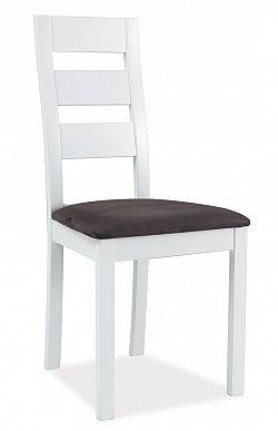 Smartshop Jídelní čalouněná židle CB-44, bílá/šedá