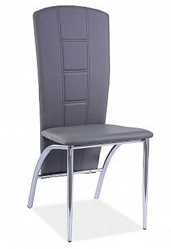Smartshop Jídelní čalouněná židle H-120, šedá