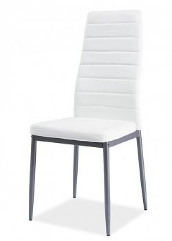 Smartshop Jídelní čalouněná židle H-261 Bis, bílá/alu