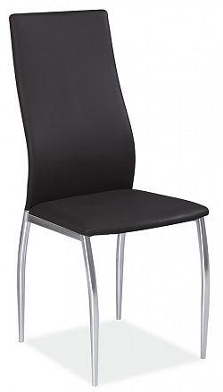 Smartshop Jídelní čalouněná židle H-801, černá