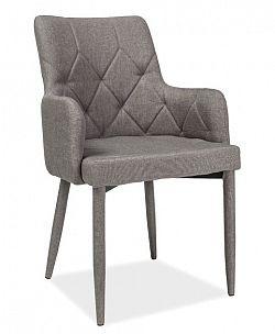 Smartshop Jídelní čalouněná židle RICARDO, šedá