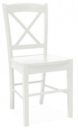 Smartshop Jídelní dřevěná židle CD-56, bílá