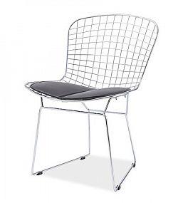 Smartshop Jídelní židle FINO, chrom/černá