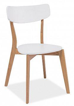 Smartshop Jídelní židle MOSSO, bílá/dub