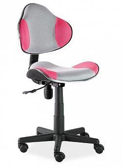 Smartshop Kancelářská židle Q-G2, šedá/růžová