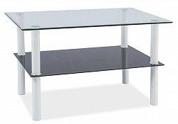 Smartshop Konferenční stolek DORIS, sklo/bílá