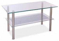 Smartshop Konferenční stolek PIXEL B 90x45, kov/sklo