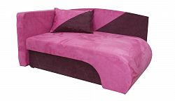 Smartshop Křeslo  KAROLEK, růžová/fialová, levá