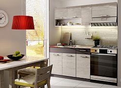 Smartshop Kuchyně MORRENO 120/180 cm, dub picard/lava