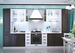 Smartshop Kuchyně PRAGA 190/280 cm, wenge/bílý lesk