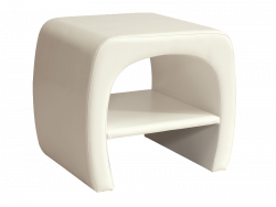 Smartshop Noční stolek ORLEANS, bílá ekokůže