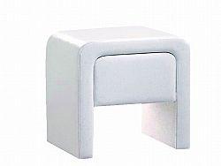 Smartshop Noční stolek TERRANO NS, bílá koženka