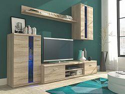 Smartshop Obývací stěna LITE, dub sonoma