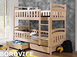 Smartshop Patrová postel ANTOS 90x190 cm, masiv borovice/barva:..