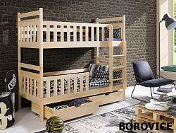 Smartshop Patrová postel MONIKA 80x180 cm, masiv borovice/barva:..