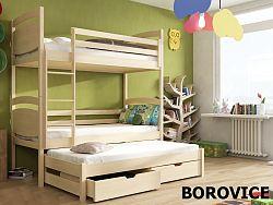Smartshop Patrová postel s přistýlkou COLO 90x190 cm, masiv borovice/barva:..