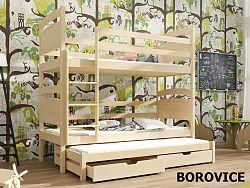 Smartshop Patrová postel s přistýlkou FIDO 90x200 cm, masiv borovice/barva:..