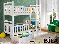 Smartshop Patrová postel SEBUS 80x180 cm, masiv borovice/barva:..