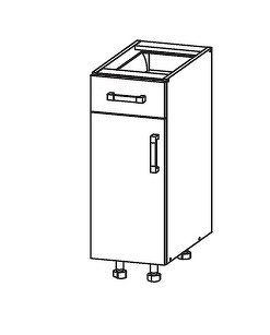 Smartshop PESEN 2 dolní skříňka D1S 30 SMARTBOX, korpus šedá grenola, dvířka dub sonoma hnědý