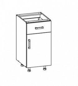 Smartshop PESEN 2 dolní skříňka D1S 40 SAMBOX pravá, korpus šedá grenola, dvířka dub sonoma hnědý