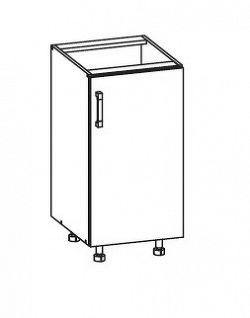 Smartshop PESEN 2 dolní skříňka D40 pravá, korpus šedá grenola, dvířka dub sonoma