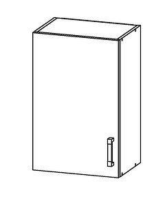 Smartshop PESEN 2 horní skříňka G50/72, korpus šedá grenola, dvířka dub sonoma hnědý