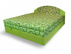 Smartshop Polohovací čalouněná postel VESNA 180x200 cm, zelená látka