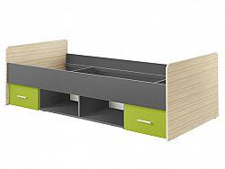 Smartshop Postel PAULINA 90X200 cm, jasan coimbra/limeta