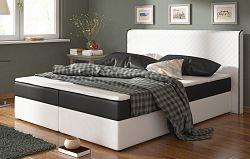 Smartshop Postel s matrací BERGAMO 180x200cm ( PUR - bílá/černá )