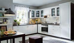 Smartshop Rohová kuchyně OLDER, VZOROVÁ SESTAVA, bílá canadian